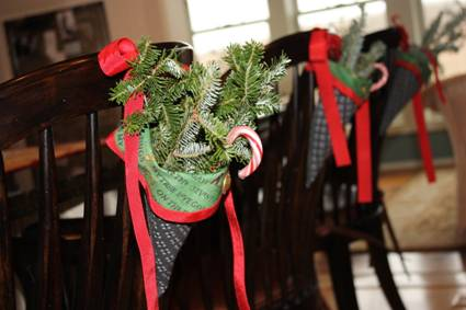 Christmas Cones for Chairs