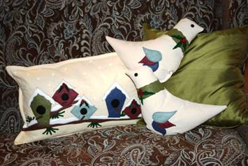 A Pair of Partridges and a Tree Pillows