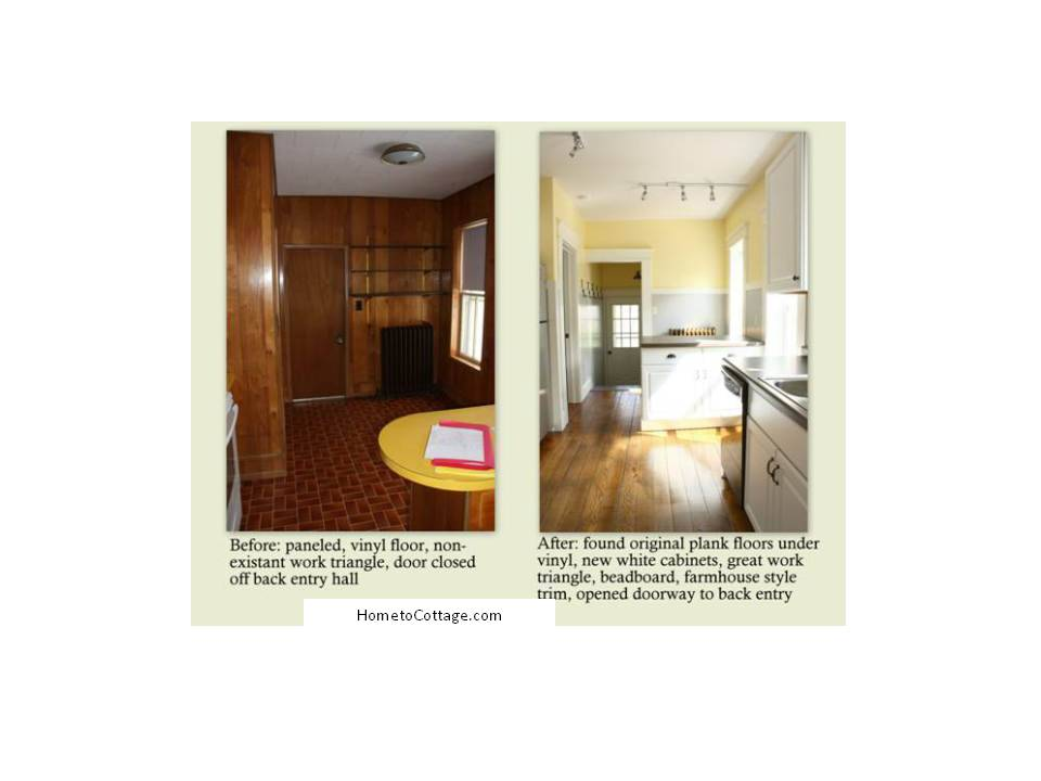 HometoCottage.com cottage kitchen before and after