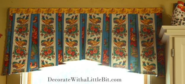 Someone Else's House… Kitchen Valance Window Treatment