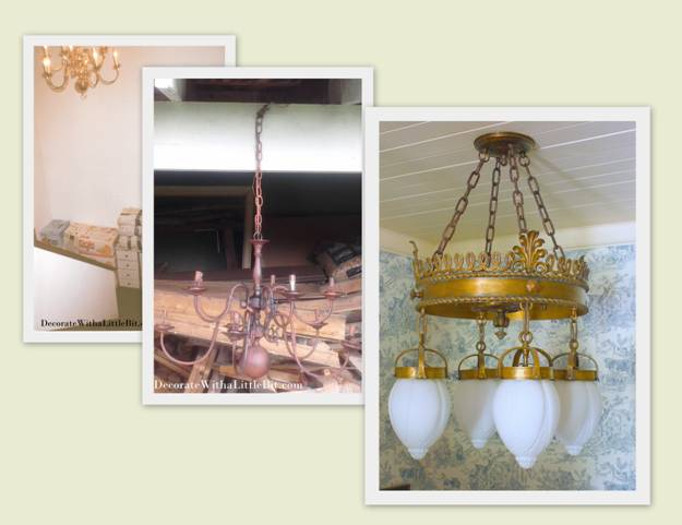 Our House: This Antique Chandelier Looks like the Crowning Glory…