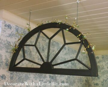 Our House: Free-Hanging Antique Window… Still More Interior Windows!