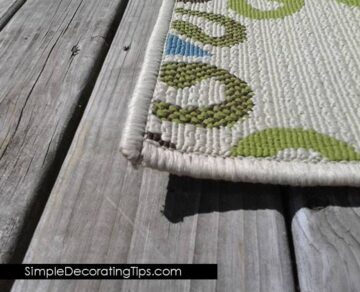 Monday's Simple Cleverness: Preventing Outdoor Rug Fly-Aways!