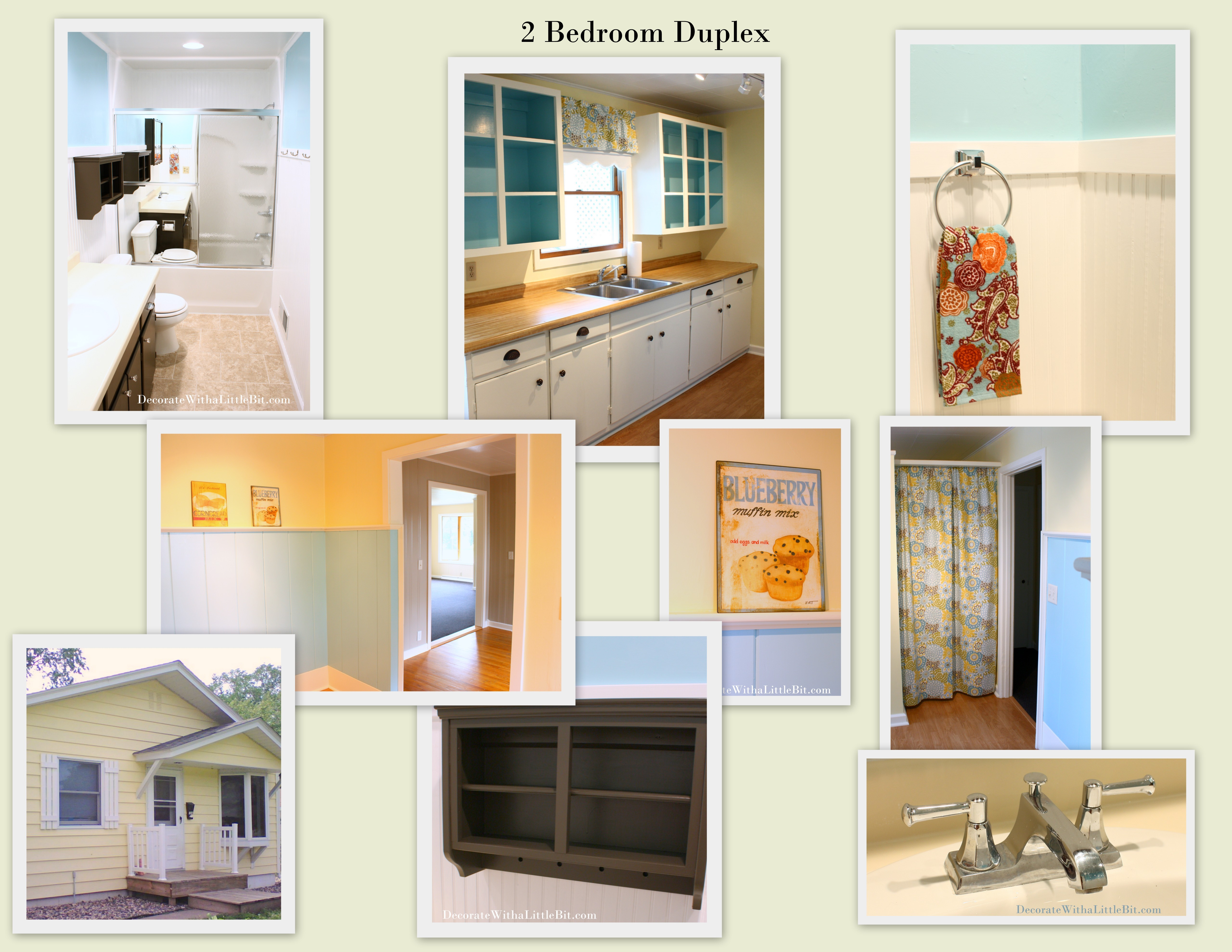 One of Our Rentals… Vintage, Cottage Style Duplex… Bathroom Refreshed!