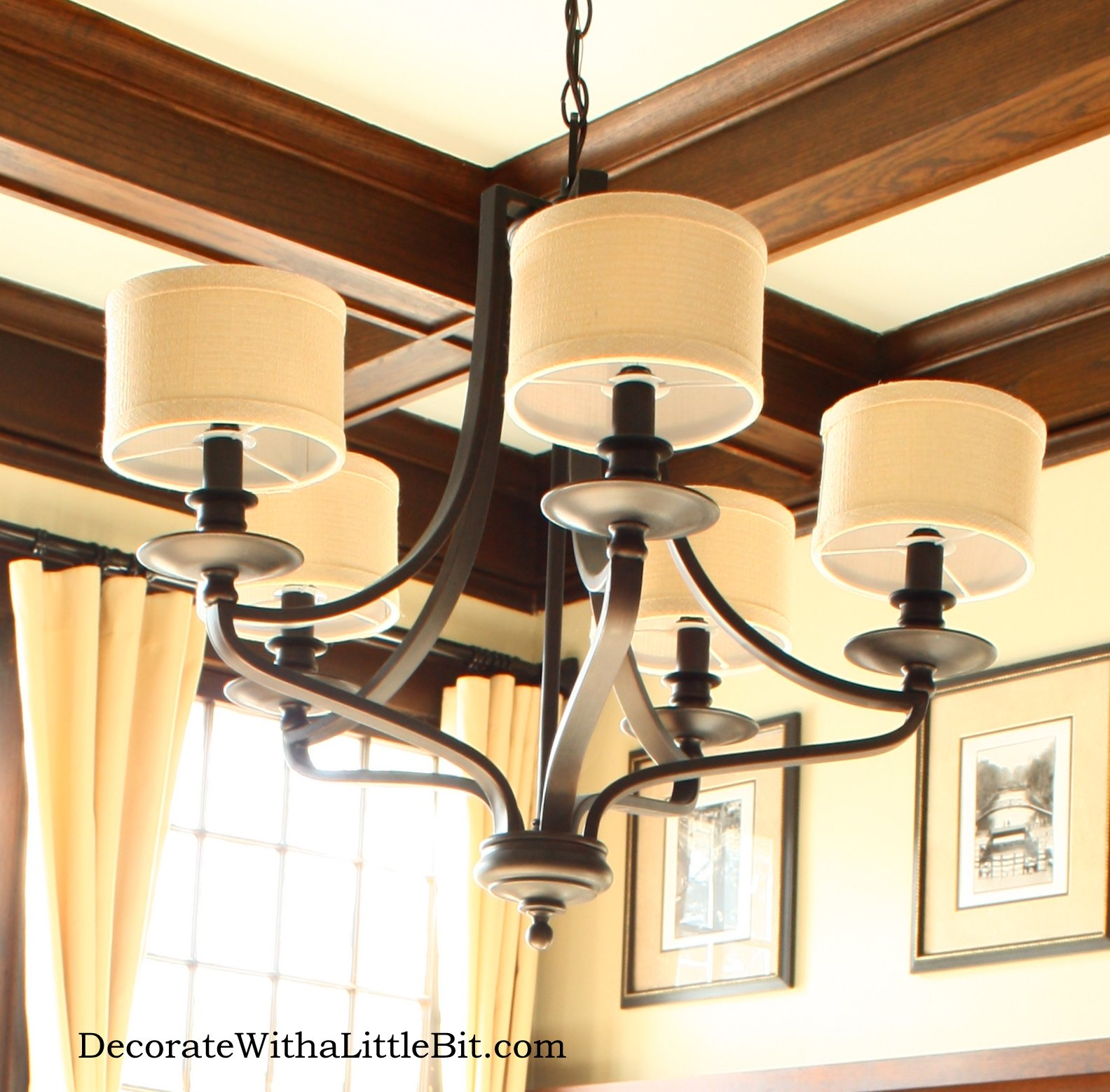 Awesome Antique Craftsman Style Homeu0027s Dining Room: Chandelier Part 9