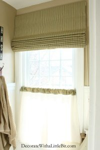 HometoCottage.com Roman Shade with Valance