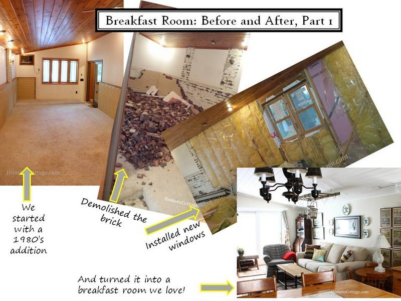 HometoCottage.com breakfast room part 1 collage