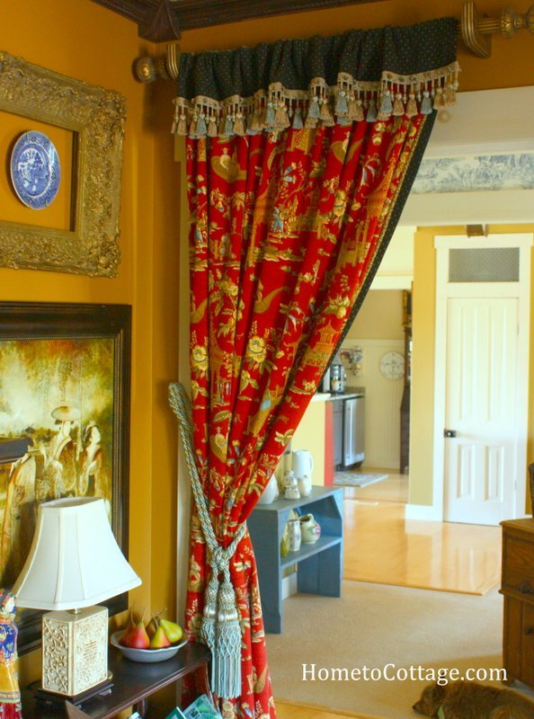 HometoCottage.com Chinoiserie Curtain In Former House