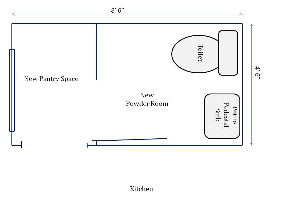 HometoCottage.com new powder room floorplan