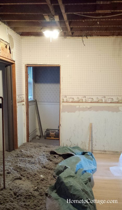 HometoCottage.com kitchen during rip out
