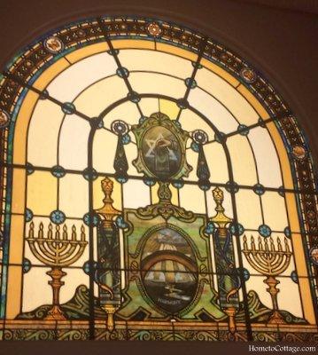 HometoCottage.com Jewish stained glass window
