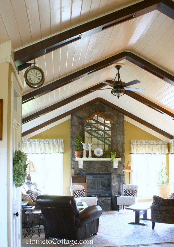HometoCottage.com Wood and Beam ceiling treatment