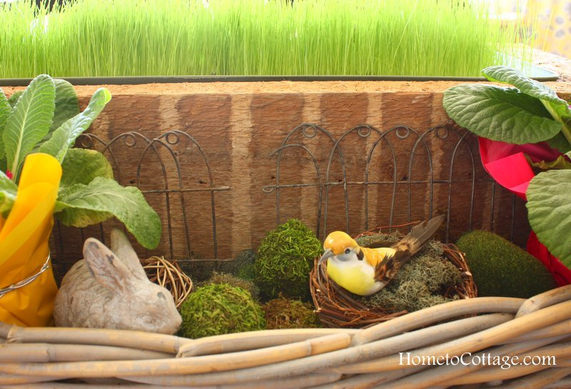 HometoCottage.com added moss, rabit, birds nests