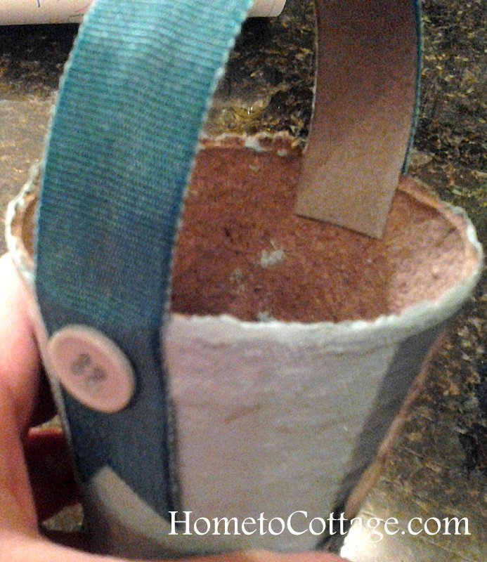 HometoCottage.com button and handle glued on