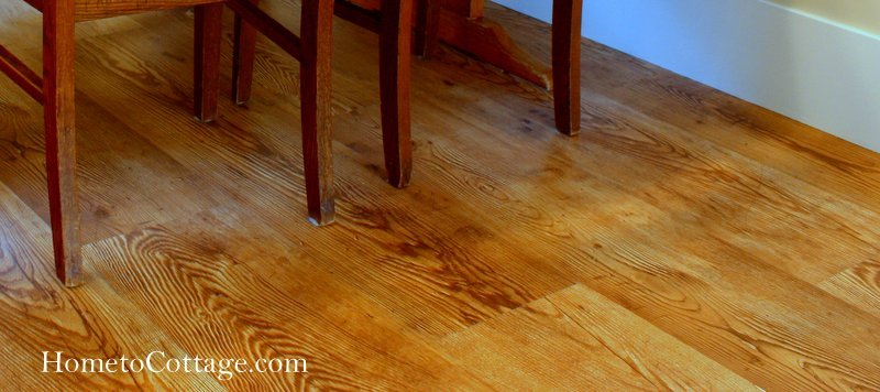 HometoCottage.com plank laminate floor done