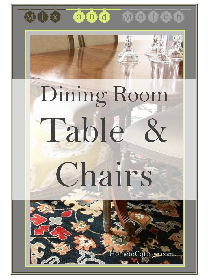 Mix and Match Dining Table and Chairs