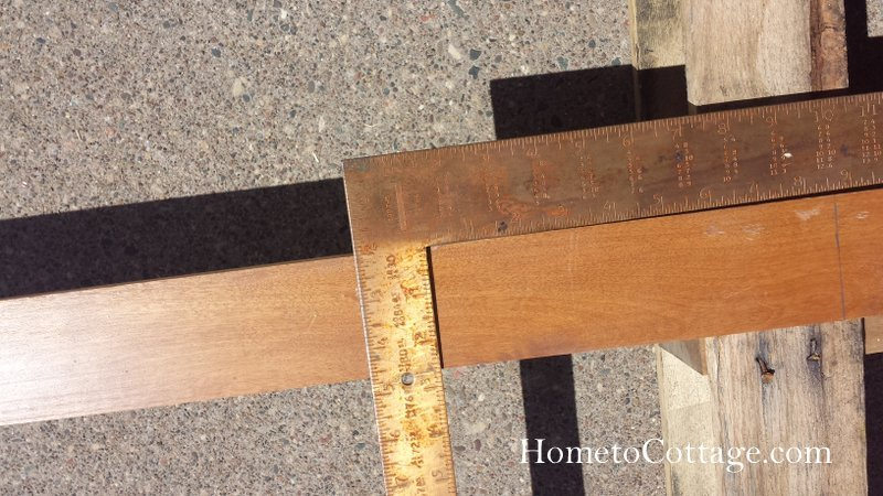 HometoCottage.com use a square to make straight lines