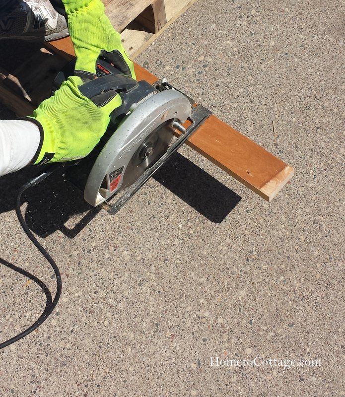 HometoCottage.com sawing wood pieces