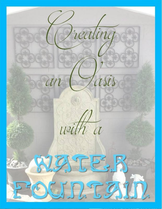 Creating an Oasis with a Water Fountain