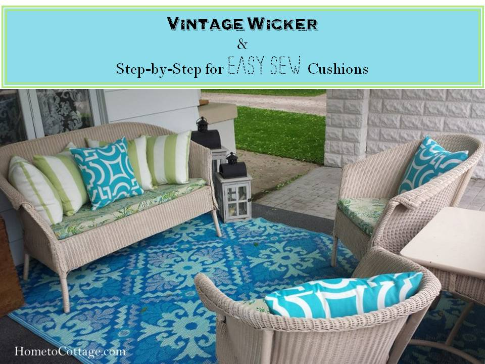 Vintage Wicker Easy Sew Cushions Tutorial