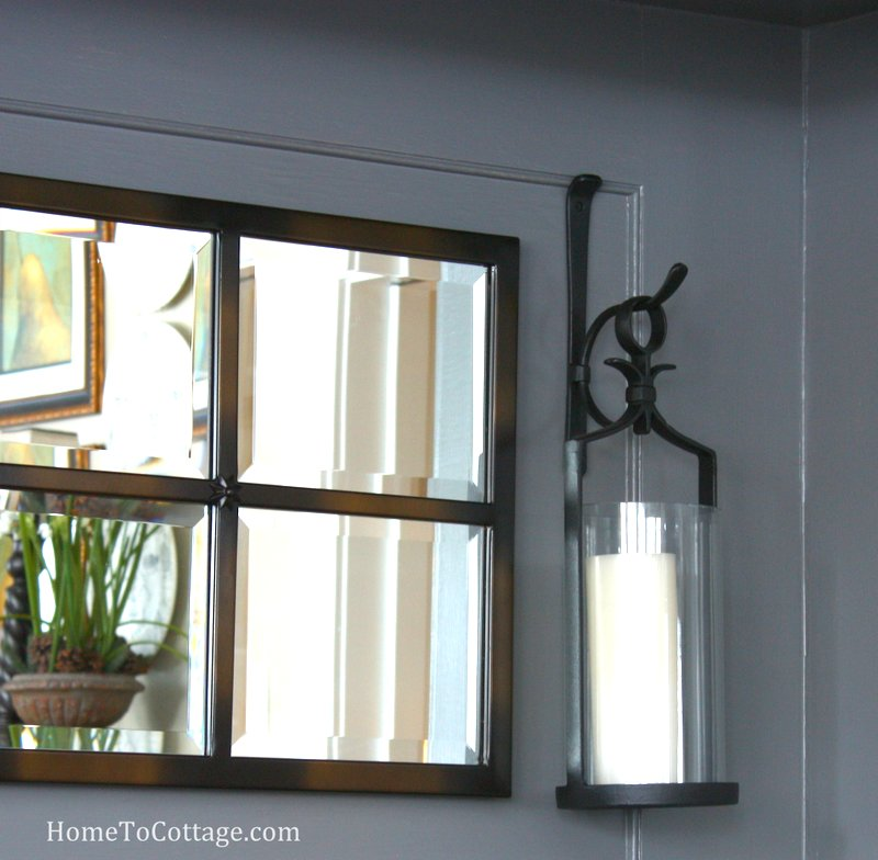 HometoCottage.com mirror with lanterns