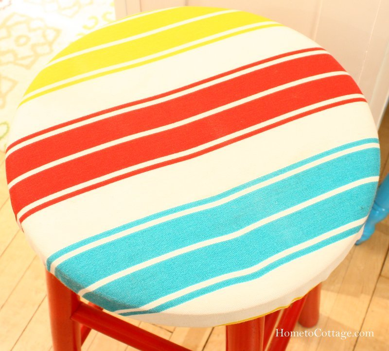 HometoCottage.com striped fabric top