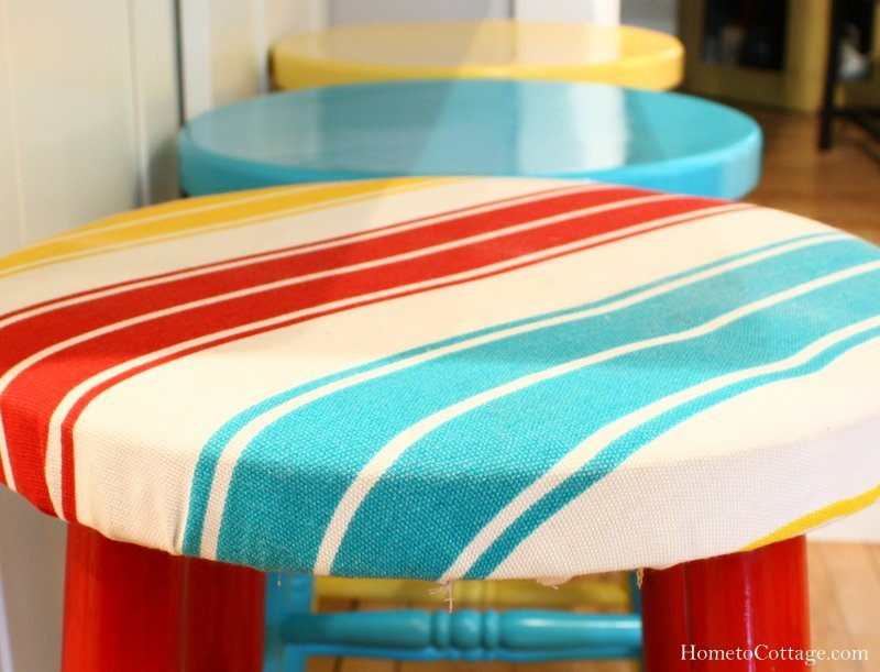 HometoCottage.com fabric with stools
