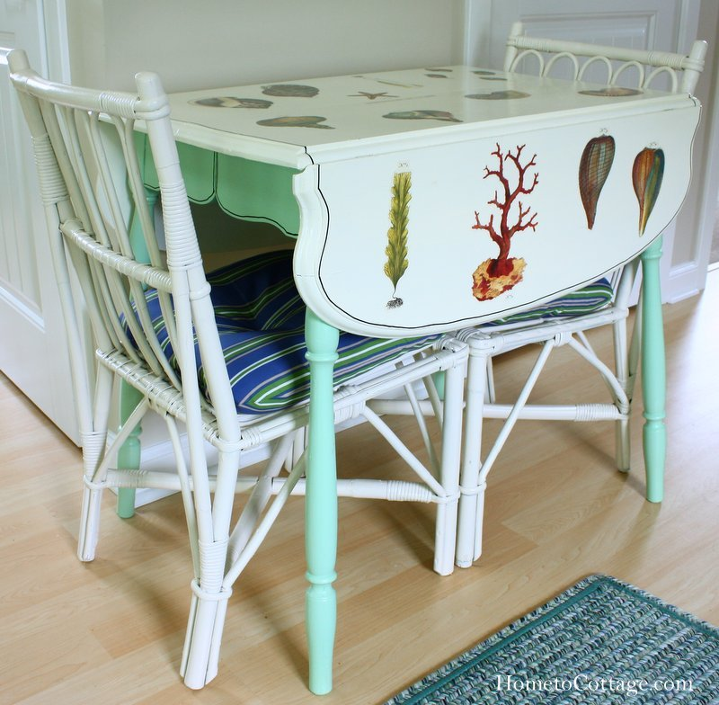 HometoCottage.com Coastal Cottage Style Table