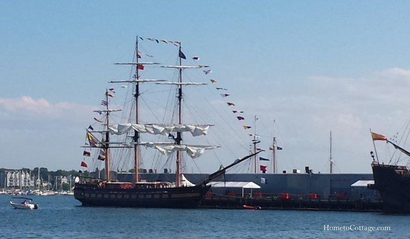 HometoCottage.com tall ships docked