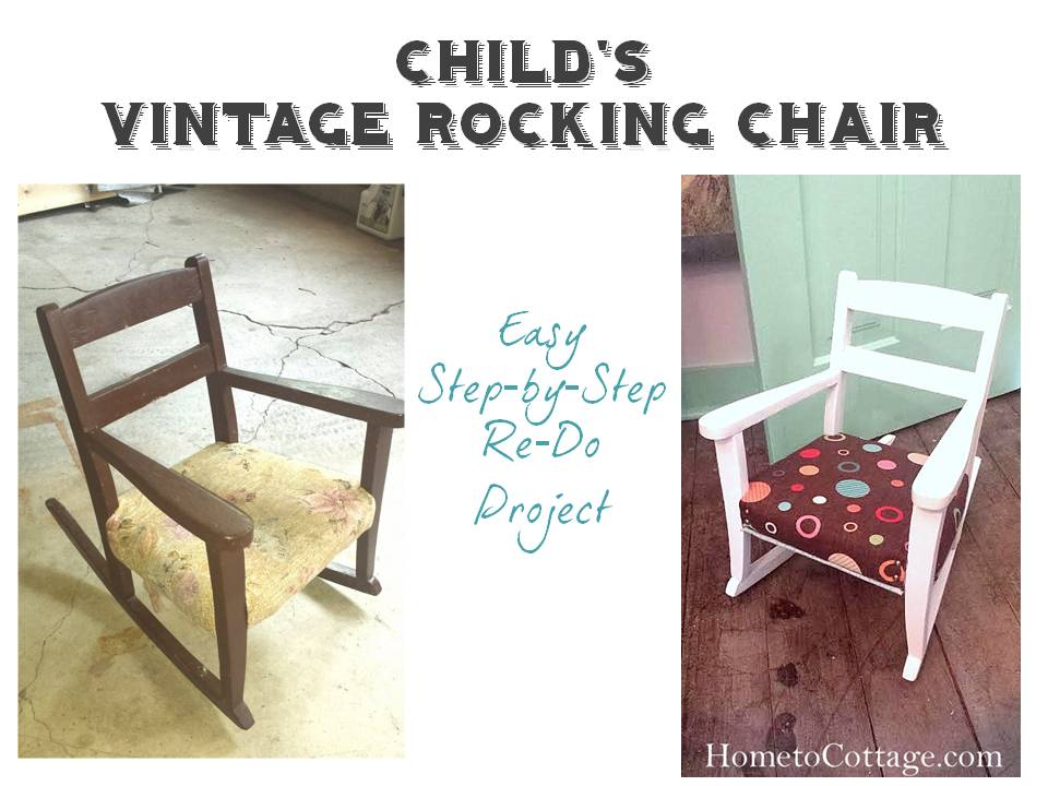 HometoCottage.com Before and After Kid's Rocking Chair Redo