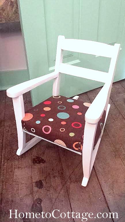 HometoCottage.com vintage rocking chair chair done