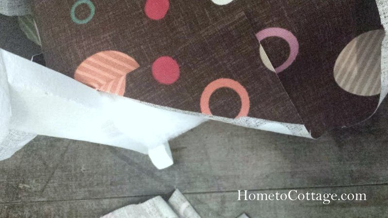 HometoCottage.com vintage rocking chair fold and clip corners