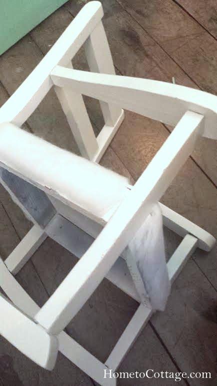 HometoCottage.com vintage rocking chair padding around sides too