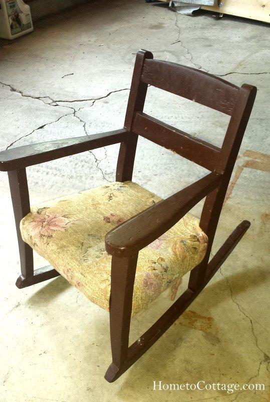 HometoCottage.com vintage rocking chair before