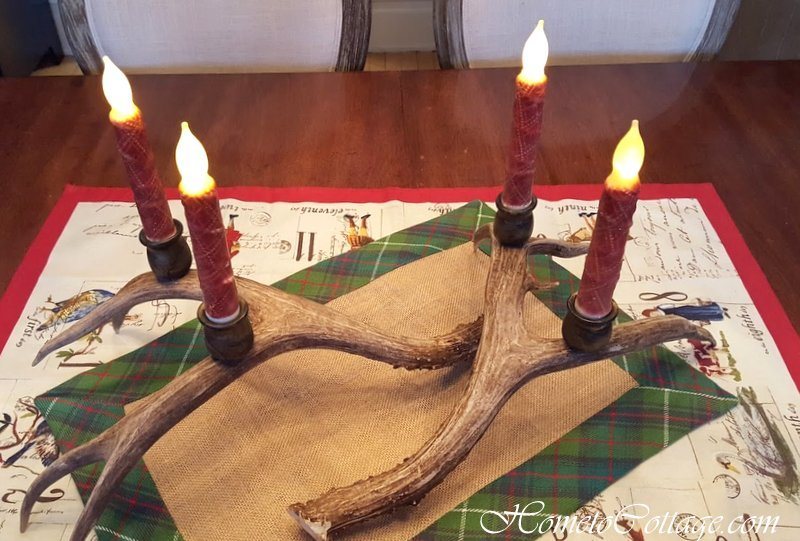 HometoCottage.com antler centerpiece