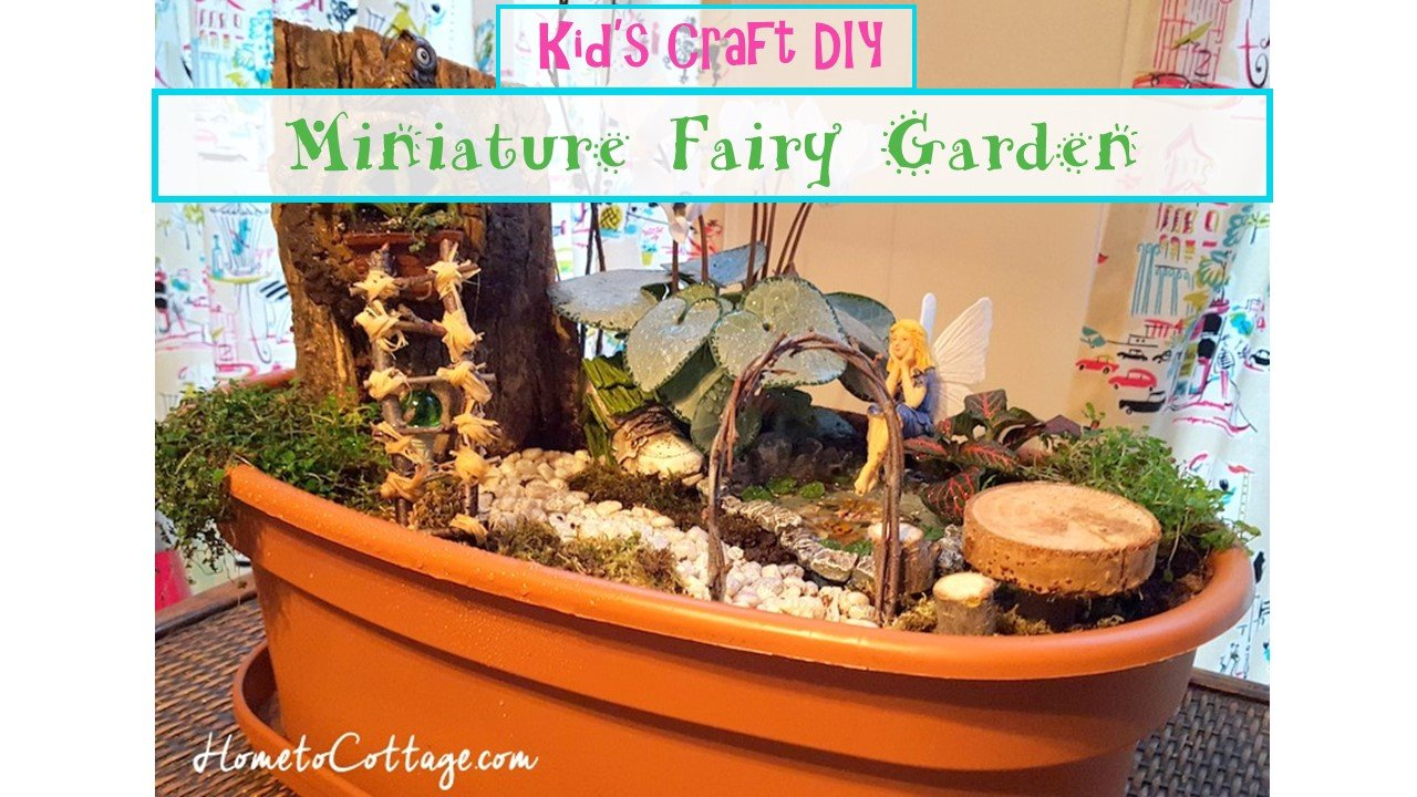 HometoCottage.com Miniature Fairy Garden