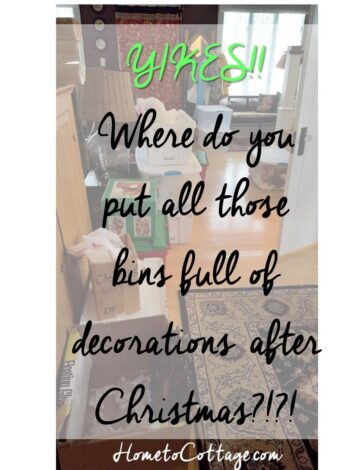 Storing Christmas Decoration Bins