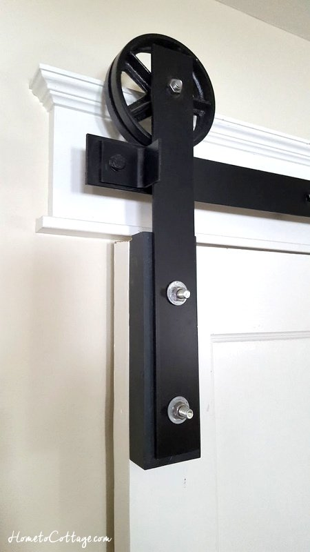 HometoCottage.com rolling barn style door top hardware