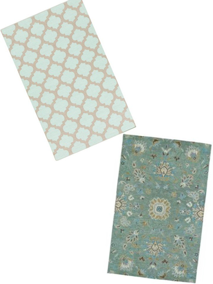HometoCottage.com mint green rugs