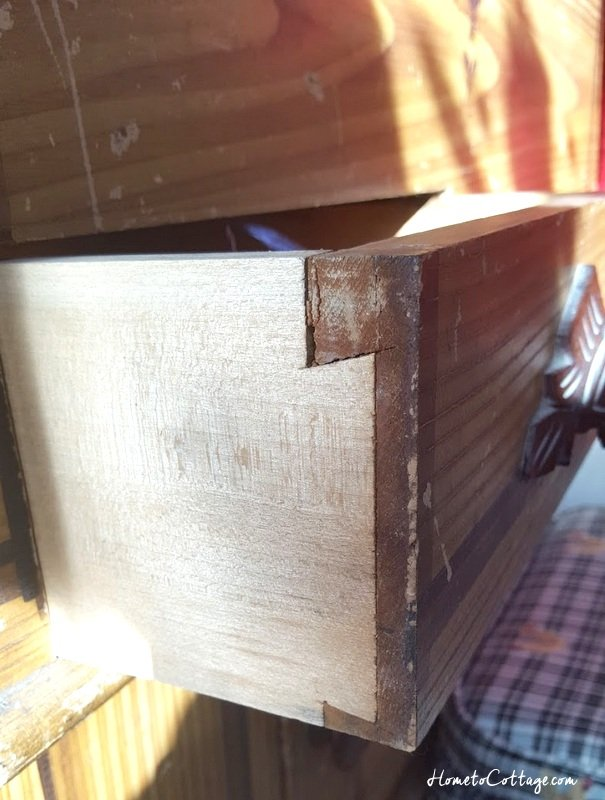 HometoCottage.com handmade dovetail drawer