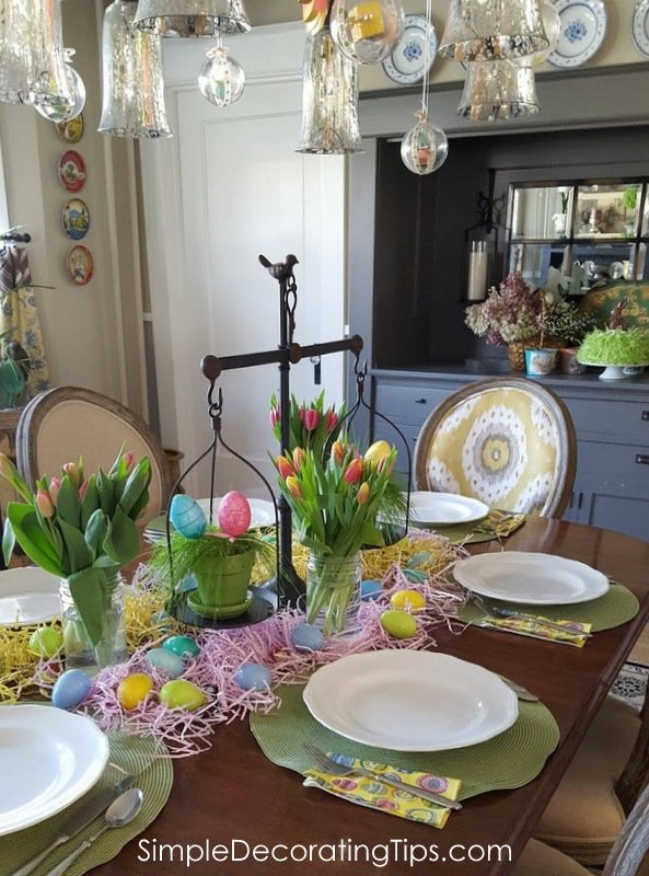 SimpleDecoratingTips.com kid's Easter tablescape