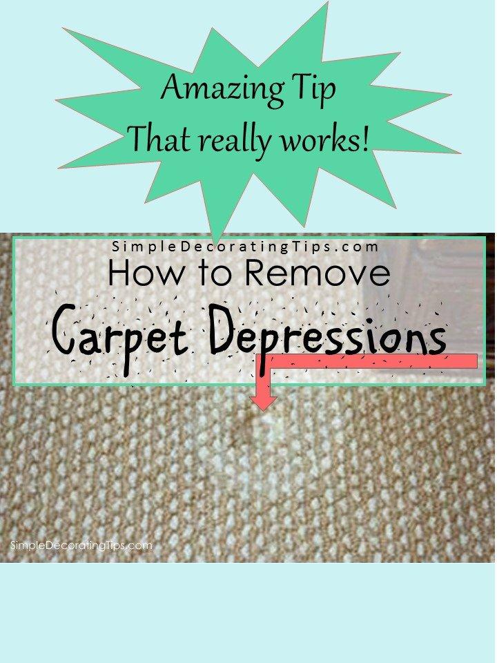 SimpleDecoratingTips.com How to Remove Furniture Depressions