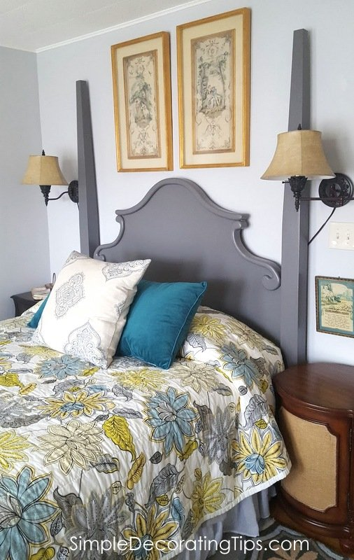SimpleDecoratingTips.com headboard before and after all done