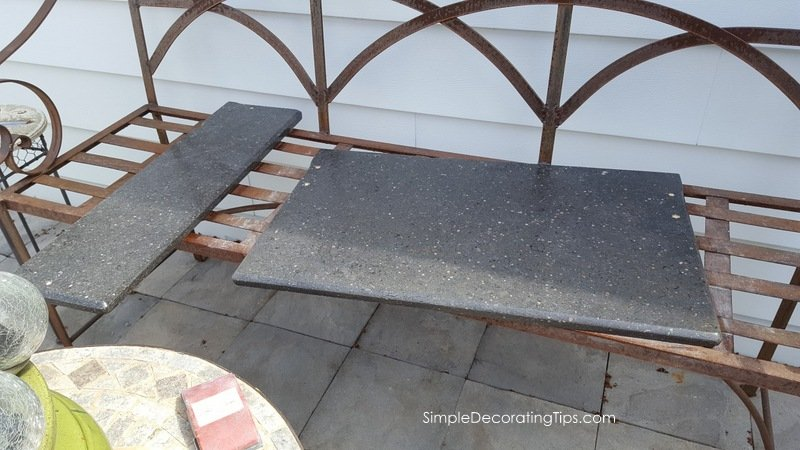 SimpleDecoratingTips.com granite after sanding and oiling