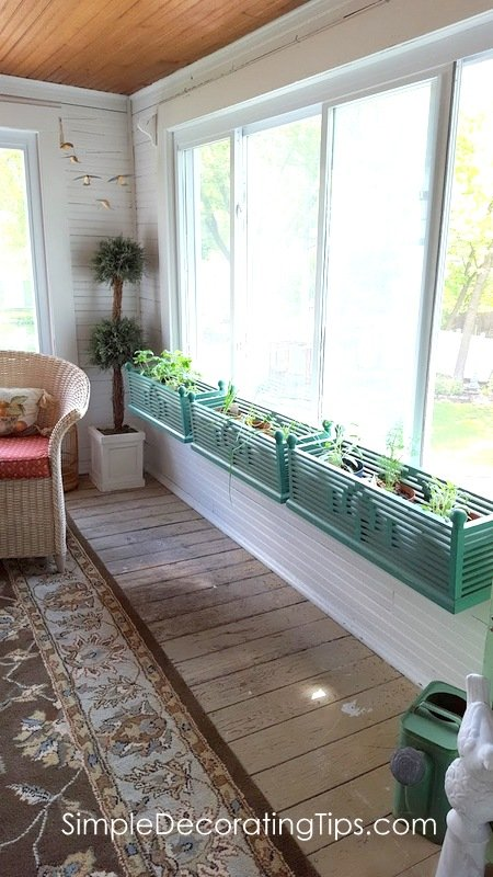SimpleDecoratingTips.com Window Boxes inside a 2nd story porch