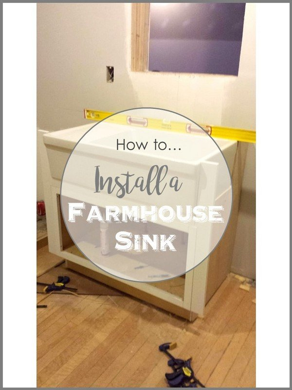 SimpleDecoratingTips.com How to install a farmhouse sink