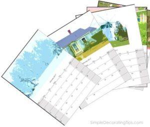 SimpleDecoratingTips.com free artsy 2017 calendar