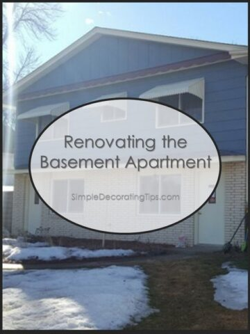 Renovating the Basement Apartment