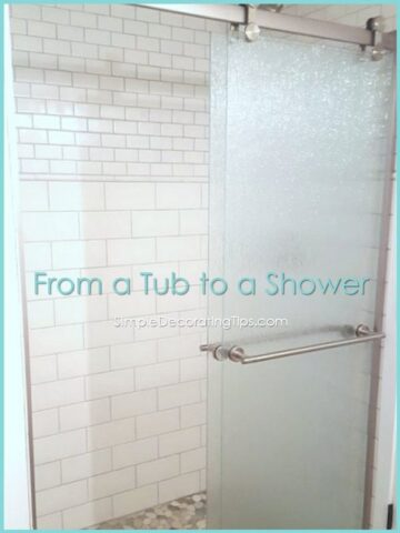 From a Tub to a Shower