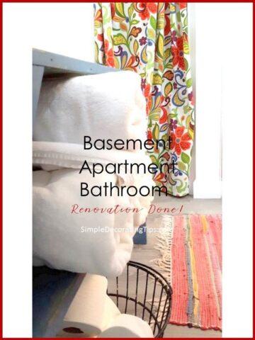 SimpleDecoratingTips.com Basement Apartment Bathroom Renovation Done